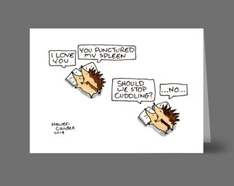 Cuddling Hedgehogs Card