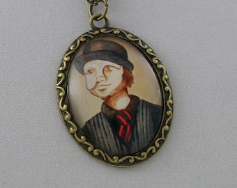 Velveteen Portraits: Chris - Cameo Necklace