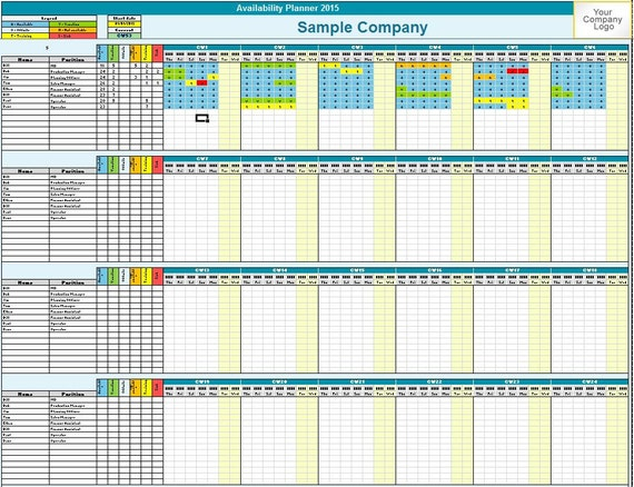 +Availability+Template Family / Employee Availability Planner - Excel ...