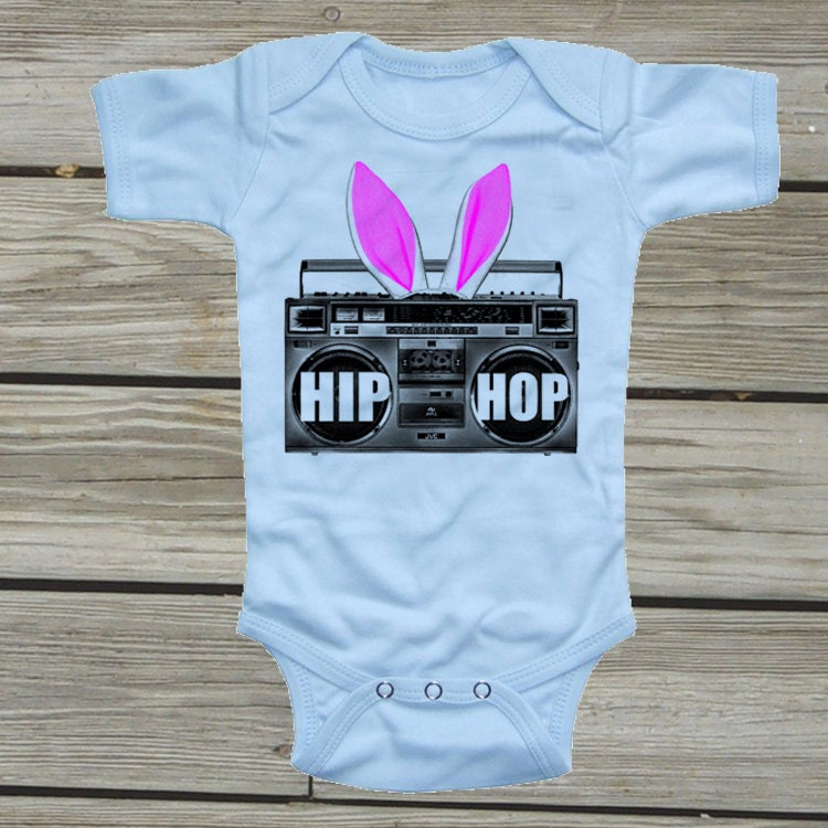 Easter onesie. Cute baby onsies. Baby boy one piece. Hip Hop