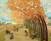"Autumn Rush - giclée print, 12"" x 16"" (30.5cm x 40.5cm)"
