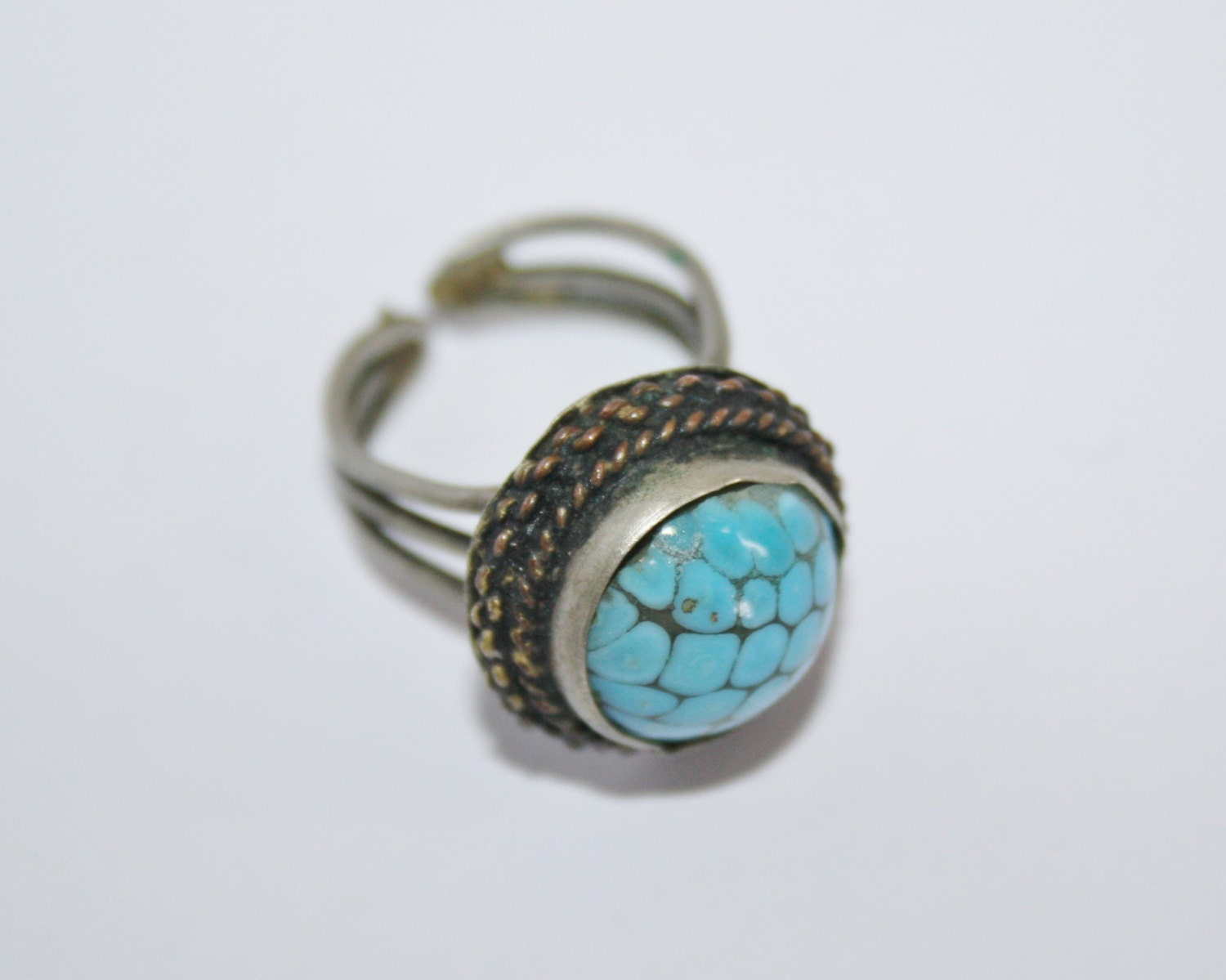 vintage antique jewellery turquoise ring antique copper ring