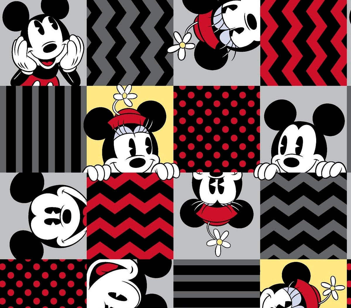 Disney Mickey and Minnie Mouse Retro Patch by ...