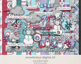 Snowlicious - Digital Scrapbooking Kit for Winter