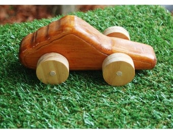 wooden sports car push toy