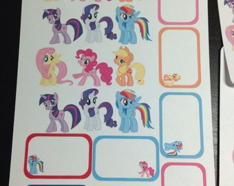 Pony stickers and half boxes -  for your EC planner