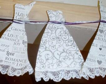 Wedding Dress Paper Garland - Bridal Shower Decoration