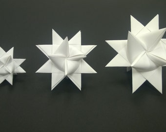 LARGE Moravian Paper Star Ornament German Frobelsterne