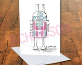 R2DB Greeting Card with Blank inside and Envelope