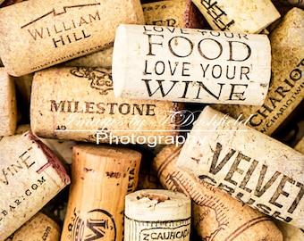 Digital Download, Instant Digital Download, Wine corks, Fine Art Photography, Screen Saver, Computer Wallpaper
