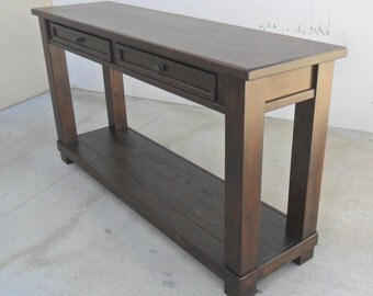 Console Table, Reclaimed Wood, Entertainment Table, Coffee Table, End Table, Rustic, Hall Table,