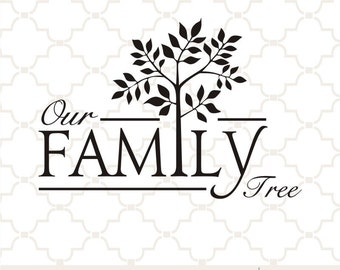 SVG Our Family Tree digital download Cricut design