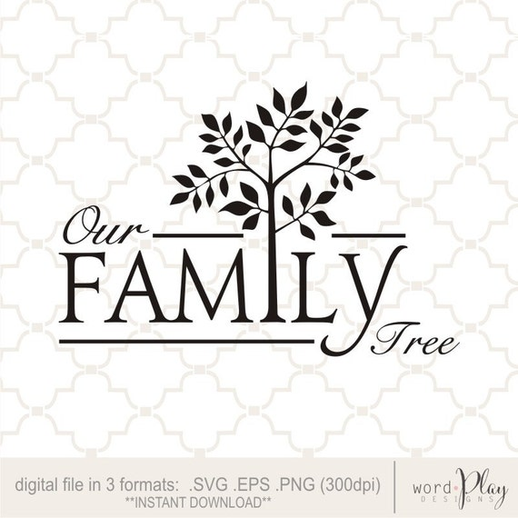 Svg Our Family Tree Digital Download on digital watermark for free