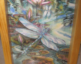 Beautiful butterfly hancrafted shadow box art