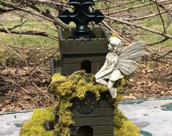 Fairy House/Handcrafted Fairy House/Fairy Castle/Garden Decor/Fairy Garden House/Fairy Homes/Pixie House/Fairy Gardens/Imagination/Fairies