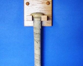 Solid Oak Baseball bat holder