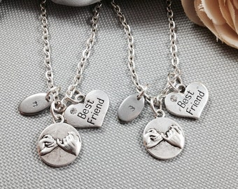 Best friend necklace, pinky promise, personalized best friend necklaces