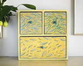 Apothecary Cabinet - Jewelry Box Wood - Tea Box - Desktop Organizer - Mini Chest of Drawers - Trinket Storage