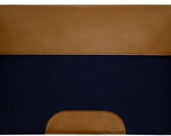 Laptop Sleeve wool felt navy blue Bag Cover Case f. Macbook Air / Pro / Retina etc.