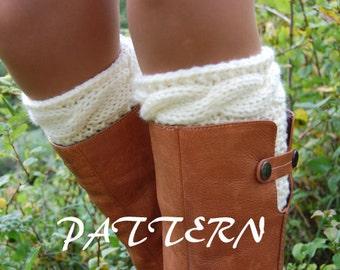 PATTERN - Women' Cable Knit Boot Cuff Knitting Pattern
