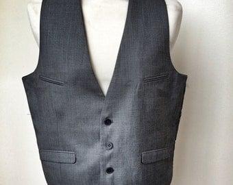 Gentlemans grey waistcoat