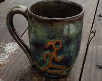 Girl runner mug