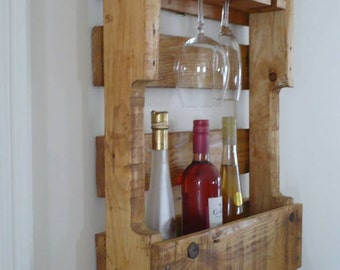 Wine rack wall simple cuts above