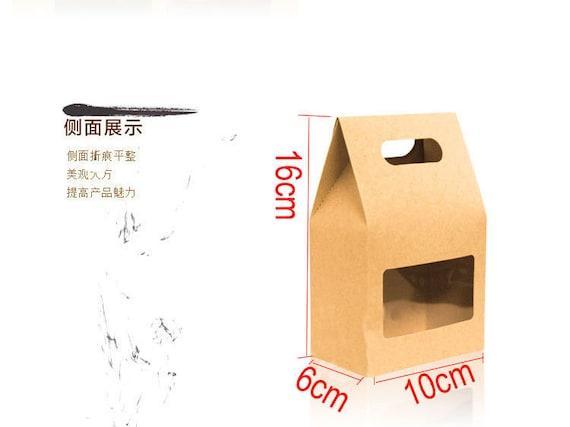 10cm 16cm 6cm 100 eco friendly kraft paper boxes with for 100 cm window box