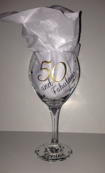 50 Fabulous Wine Glass Personalized With The Birthday