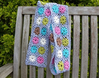Crochet pattern summer scarf with lace effect (English US / Dutch)