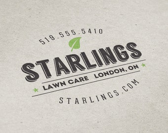 Premade Logo Design, Lawn Care Logo, Landscaping Logo, Premade Custom Logo Design, Yard Maintenance Logo, Vintage Style Logo, Retro Logo