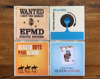 Classic Hip Hop Ceramic Coasters- The Eighties Collection