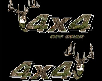 4x4 Truck Off Road Deer Hunting Decals/Stickers