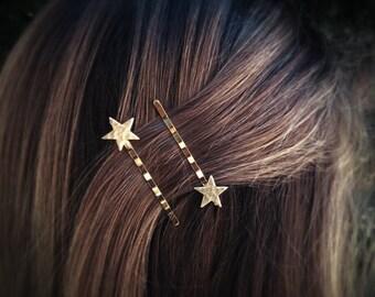 Gold Star Bobby Pins Star Hair Pins Hair Clips Hair Accessories