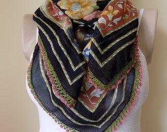 Turkish Yemeni,Turkish Needle Lace,Needle Lace Turkish Yemeni scarf, Cotton Scarf,Turkish Yemeni