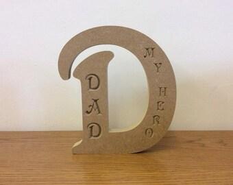 Freestanding Engraved Letter D