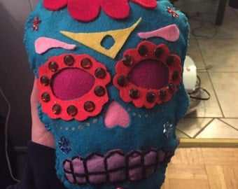 Plush Sugar Skull (day of the dead skull)