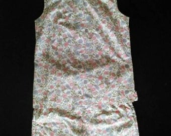 1960s Floral Mark Hober Floral shorts and top