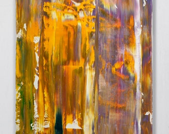"Abstract Original painting Colorful painting  Acrylic painting  ""Yellow Composition"" 24H x 20W from Art Factory Gallery"