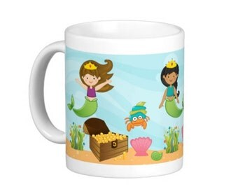 Mermaid Mug For Kids - Personalize with Name