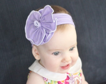 Big Cotton Flower Headband