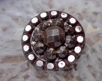 Antique Cut Steel Button