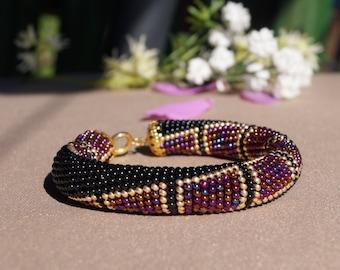 "Beaded bracelet ""Squares"""
