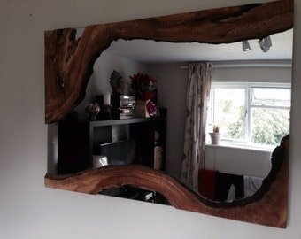 Handcrafted Wooden Mirror
