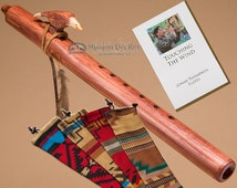 Native American Flute & Bag Pack -Walnut Eagle