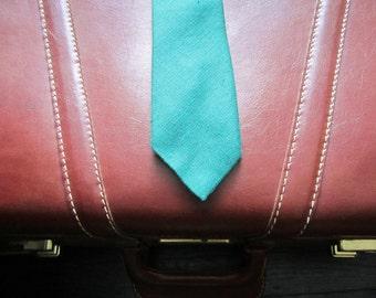 Vintage Rooster Wool Tie / Green Wool Tie / Vintage Rooster Tie