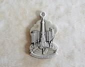 Heritage Indiana Silent Victors Monument Sterling Silver Bracelet Charm Promotional