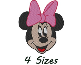 Minnie Mouse Stitch Embroidery design. 4 Sizes,