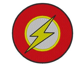 Flash Logo embroidery design. 4 Sizes,