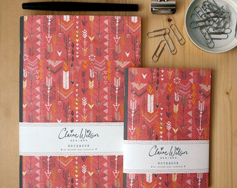 Patterned Notebooks - Tribal Arrows